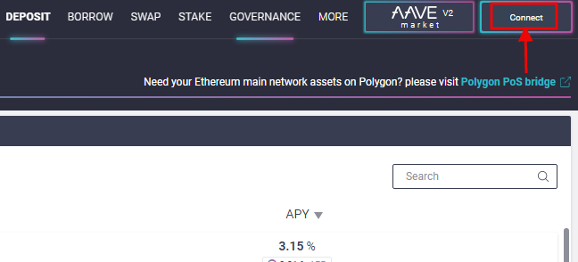 Connect Aave to wallet