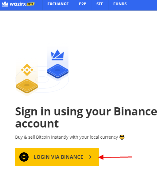 Link WazirX and Binance