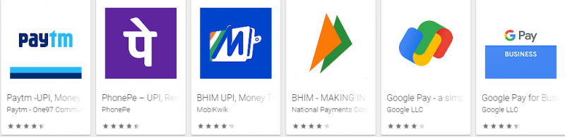 Payments apps
