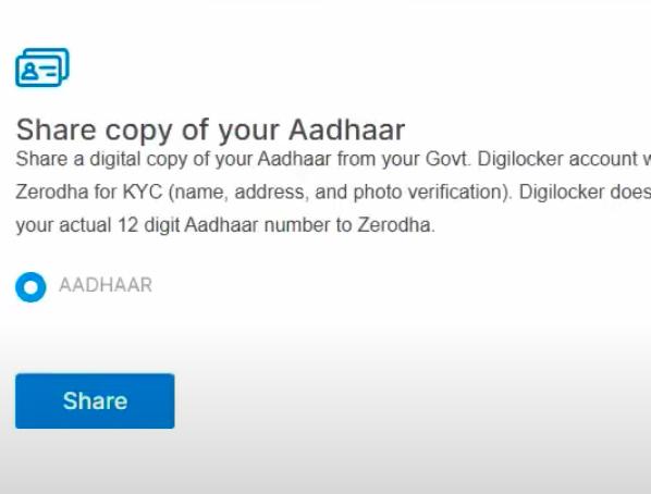 Share Aadhar details