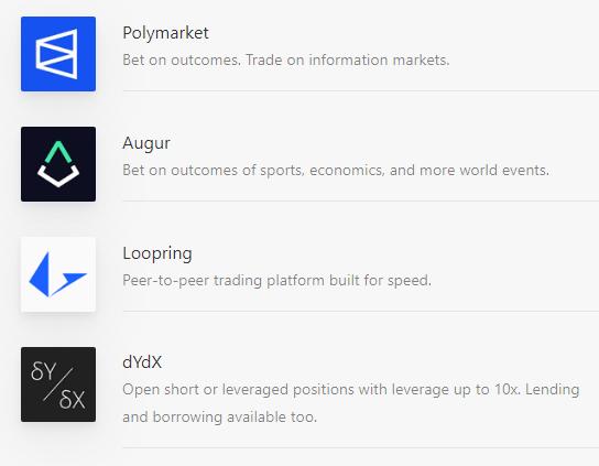 Trading dapps