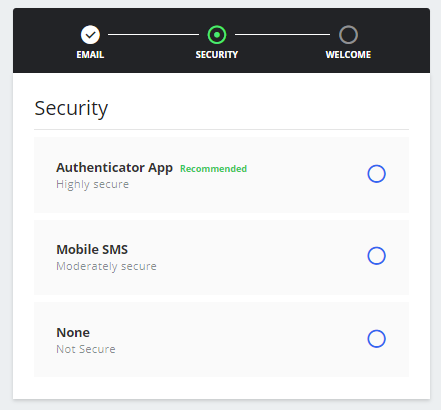 Email Verification and Account Security Setup