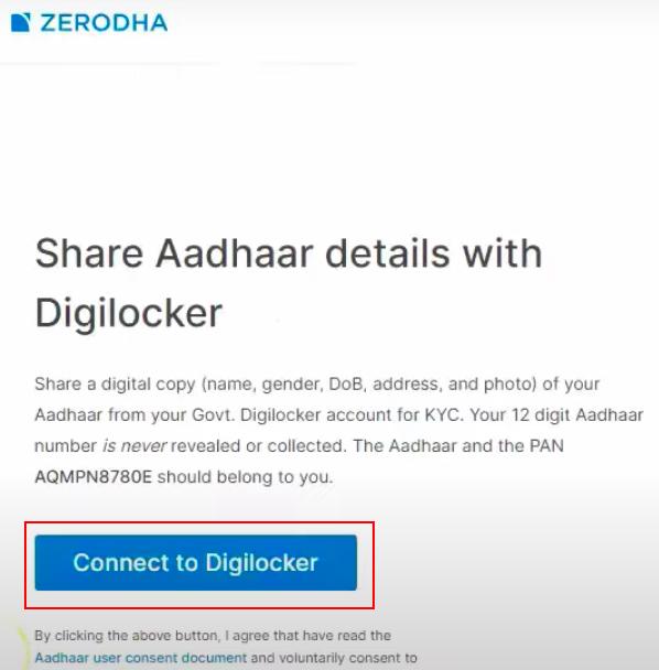 Share aadhar details with digilocker