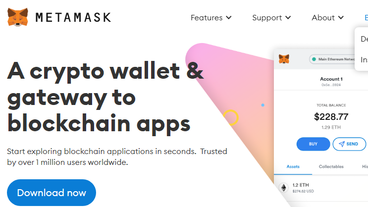 Metamask crypto wallet