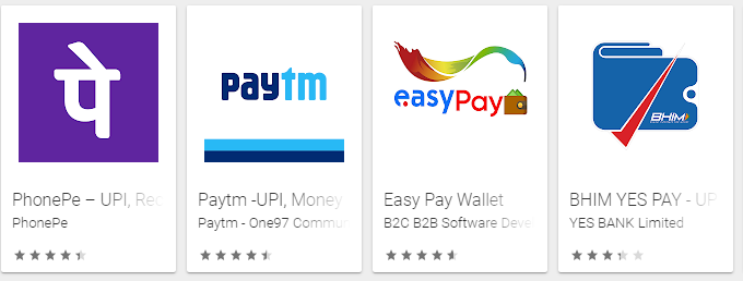 Payment wallet examples